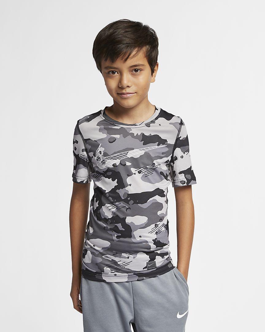 Nike - Nike Pro Kurzarm-Camo-Oberteil für Jungen - 1