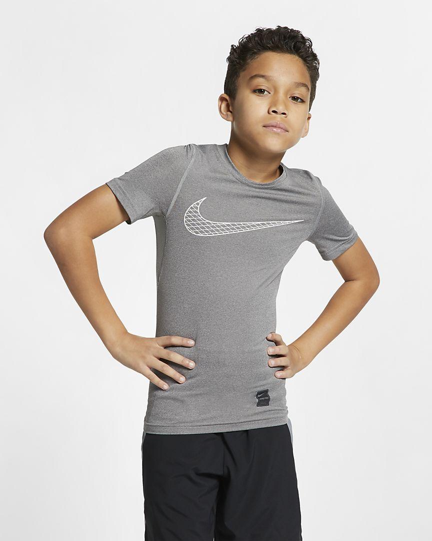 Nike - Nike Pro Kurzarm-Trainingsoberteil für ältere Kinder (Jungen) - 1