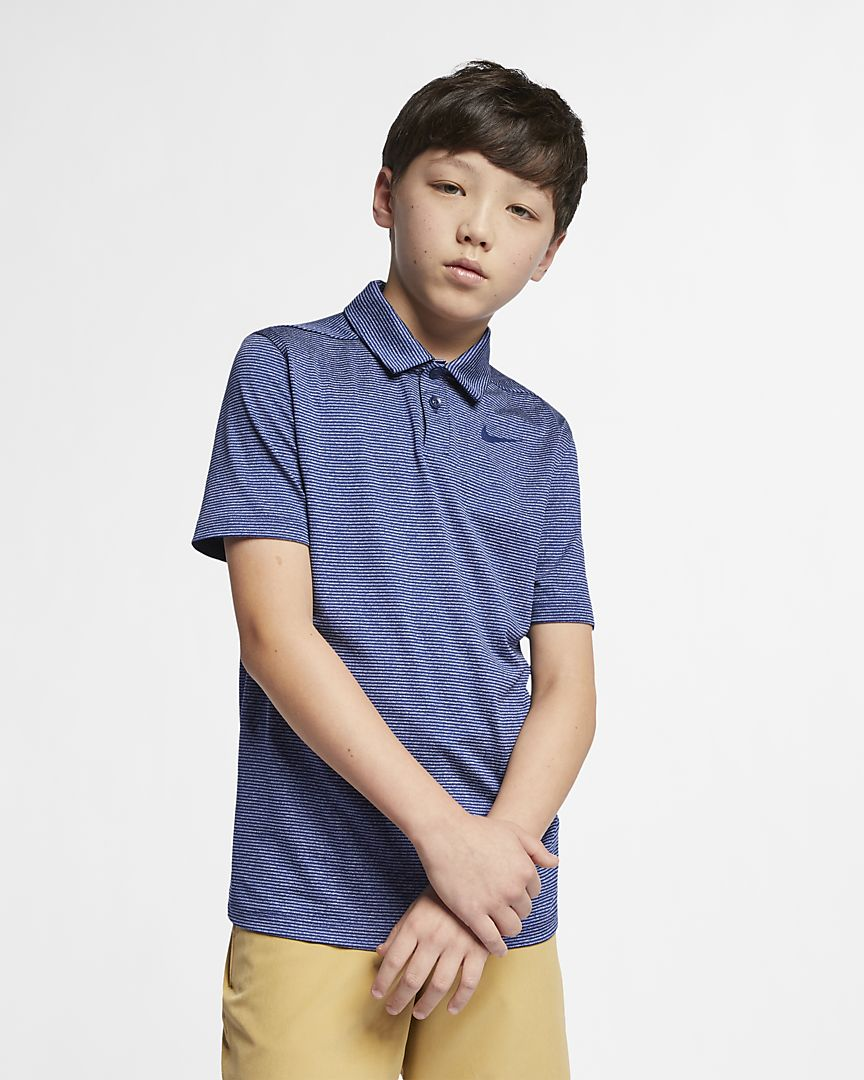 Nike - dri-fit older  (boys') striped golf polo - 1
