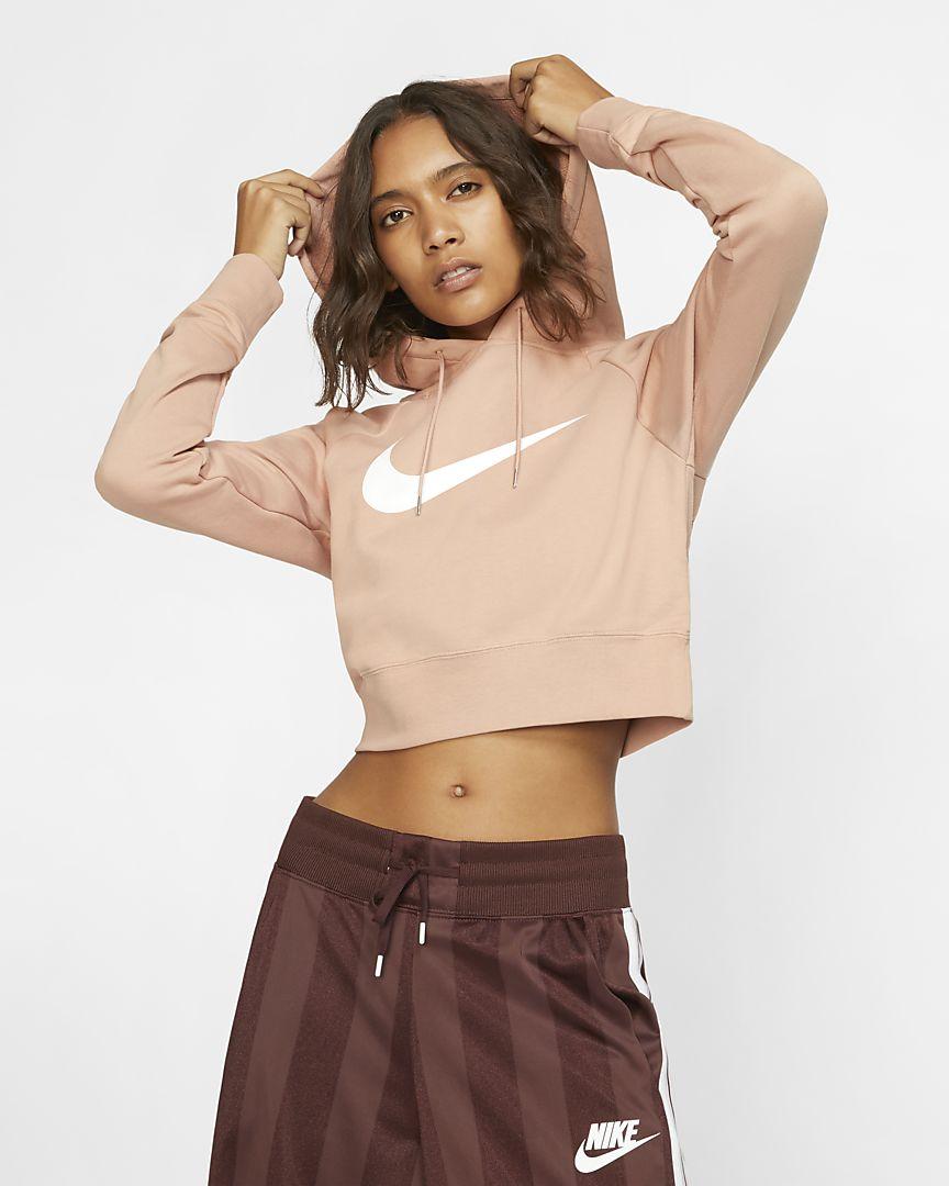 Nike - Nike Sportswear Swoosh 3/4-langer French-Terry-Hoodie für Damen - 1
