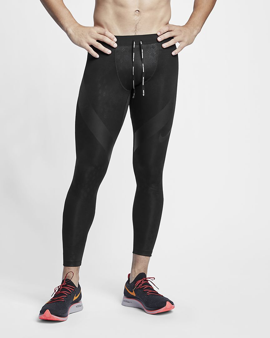Nike - power tech  running tights - 1