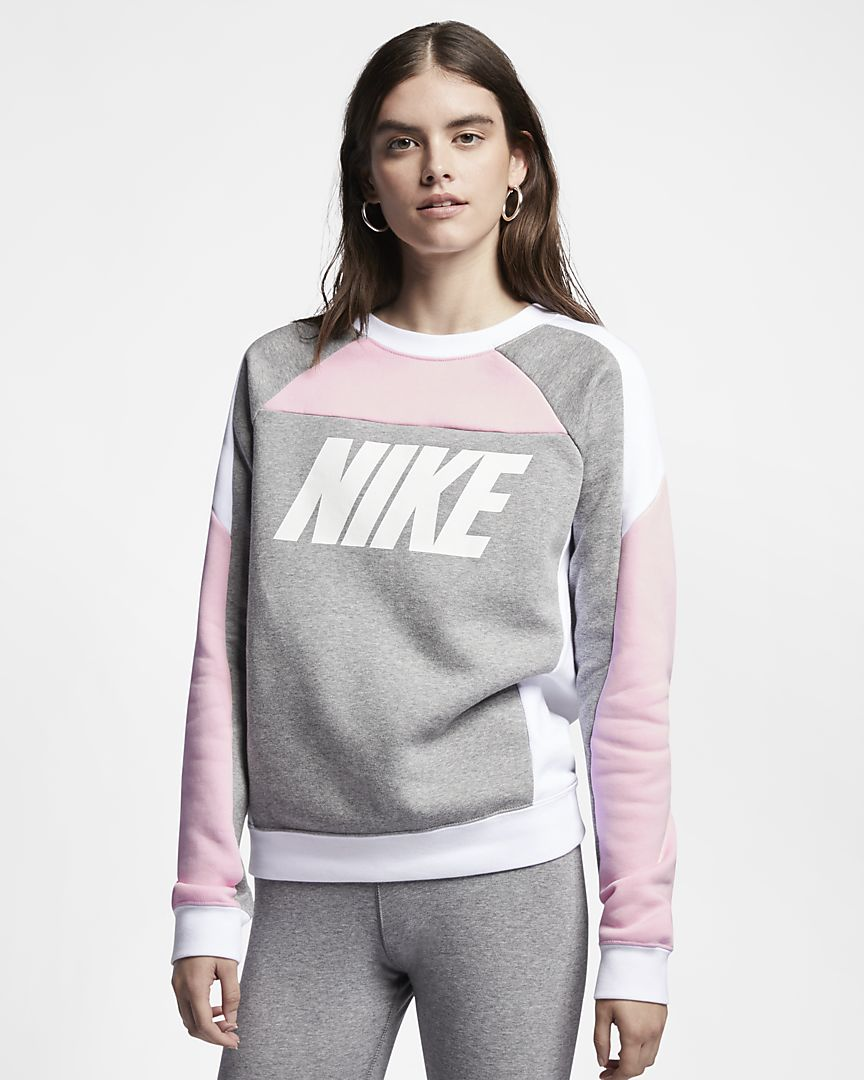 Nike - sportswear  fleece colour-block crew - 1