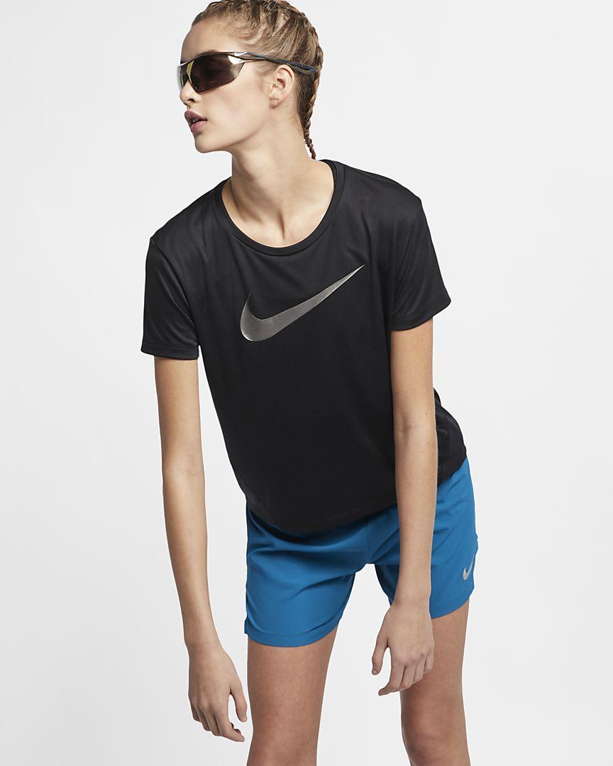 Nike - Nike Miler Kurzarm-Laufoberteil für Damen - 1