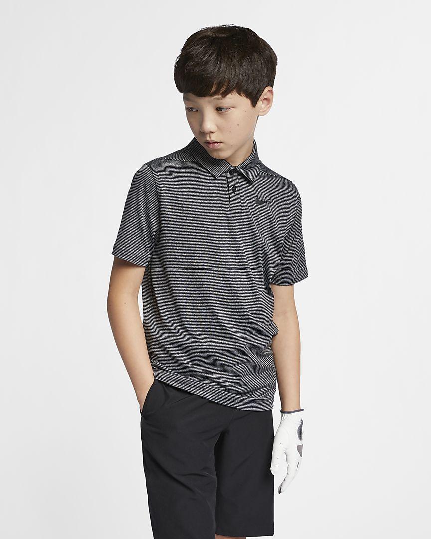 Nike - dri-fit older  (boys') striped golf polo - 1