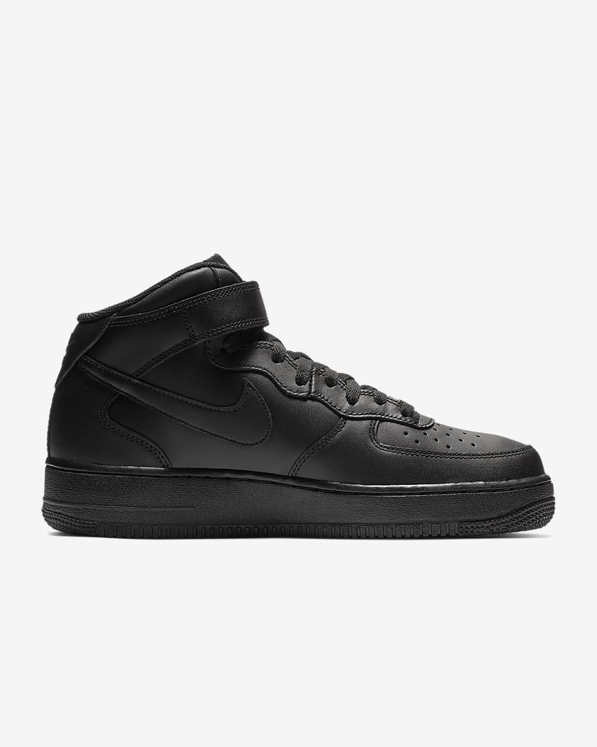 Nike Air Force 1 Negro Mediados De Tenis Superior YWCYyXk