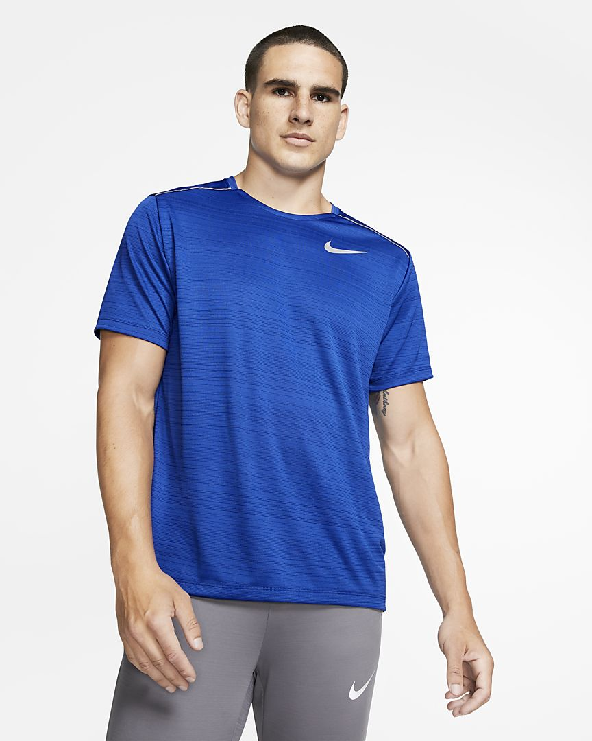 Nike - dri-fit miler  short-sleeve running top - 1