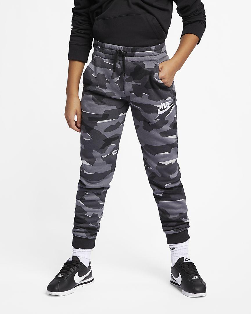 Nike - sportswear older  (boys') camo joggers - 1