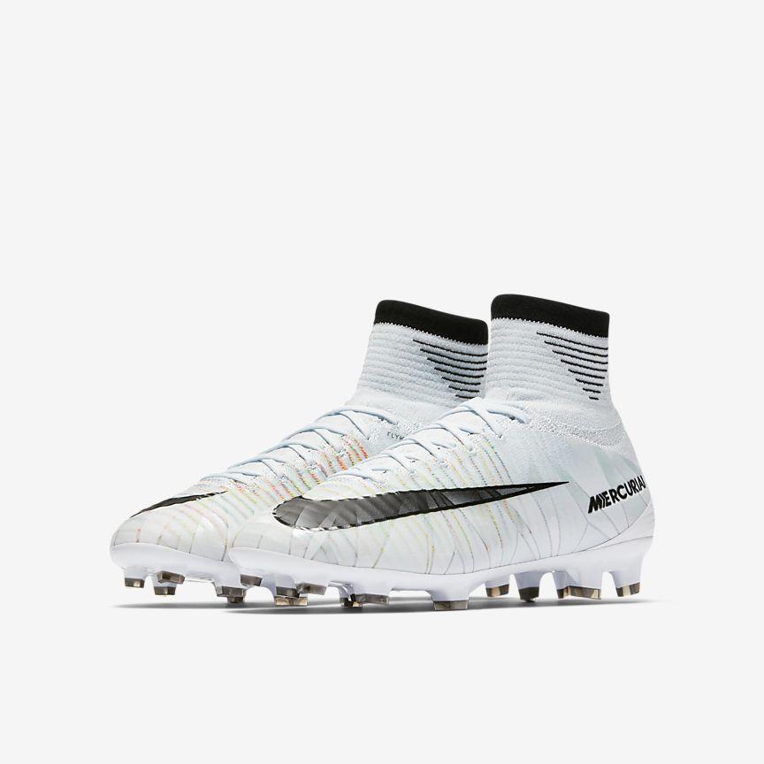 Nike - Chaussure de football à crampons pour terrain sec Nike Jr. Mercurial Superfly V CR7 Dynamic Fit pour Jeune enfant/Enfant plus âgé - 5