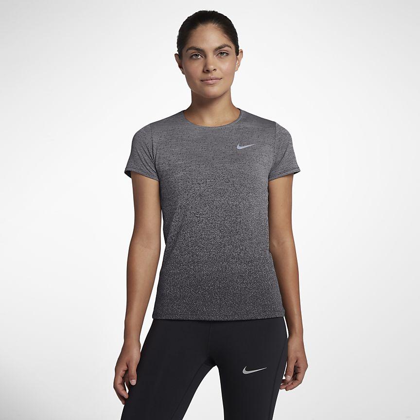 Nike - Nike Medalist Kurzarm-Laufoberteil für Damen - 1