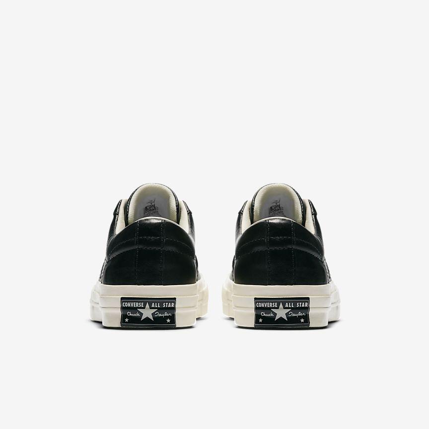 Converse De Cuero De Una Estrella Zapato Unisex Superior Baja JCKcCBO