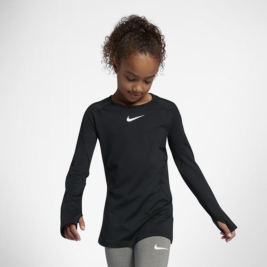 Nike - Nike Pro Warm Camiseta de entrenamiento de manga larga - Niña - 1