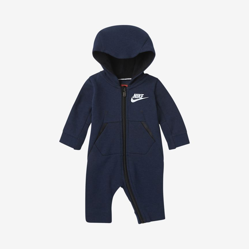 Nike - sportswear tech fleece baby & toddler hooded overalls - 1