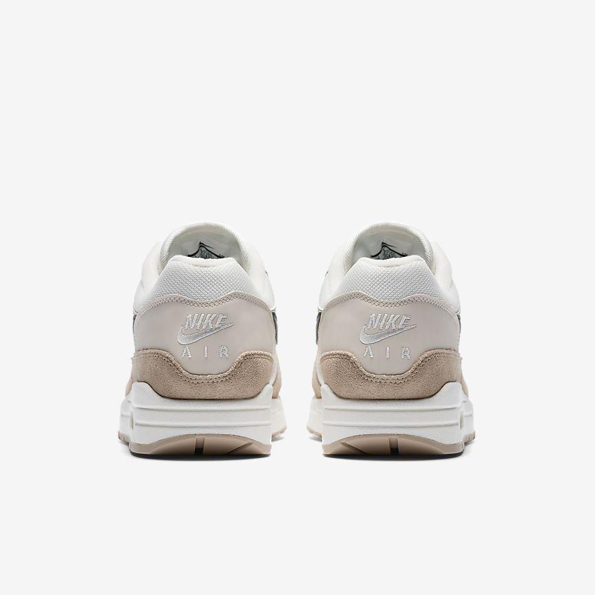 Nike Air Max 1 Zapatos Corrientes Del Mens - Color Blanco / Azul / Gris 09HVTke