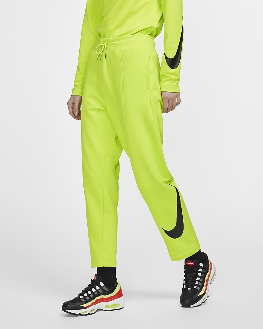 Nike - sportswear swoosh french terry trousers - 1