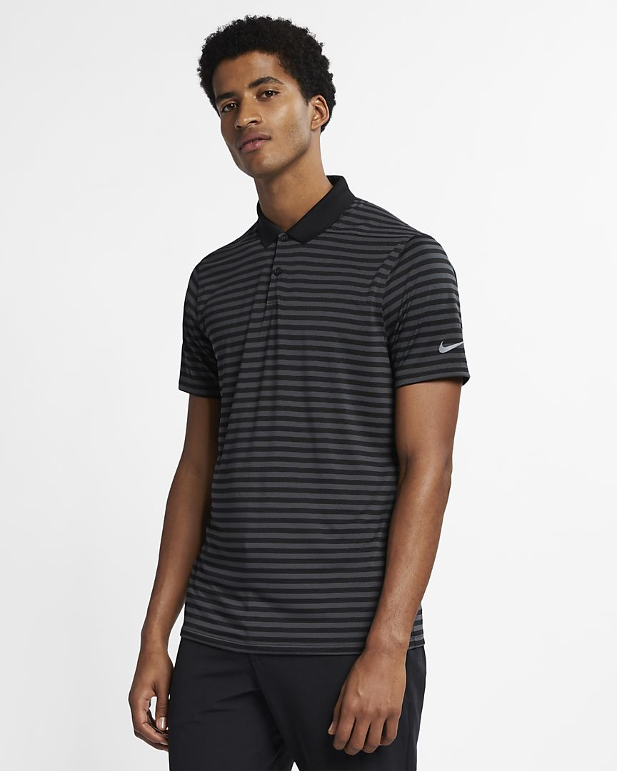 Nike - Nike Dri-FIT Victory gestreiftes Herren-Golf-Poloshirt - 1