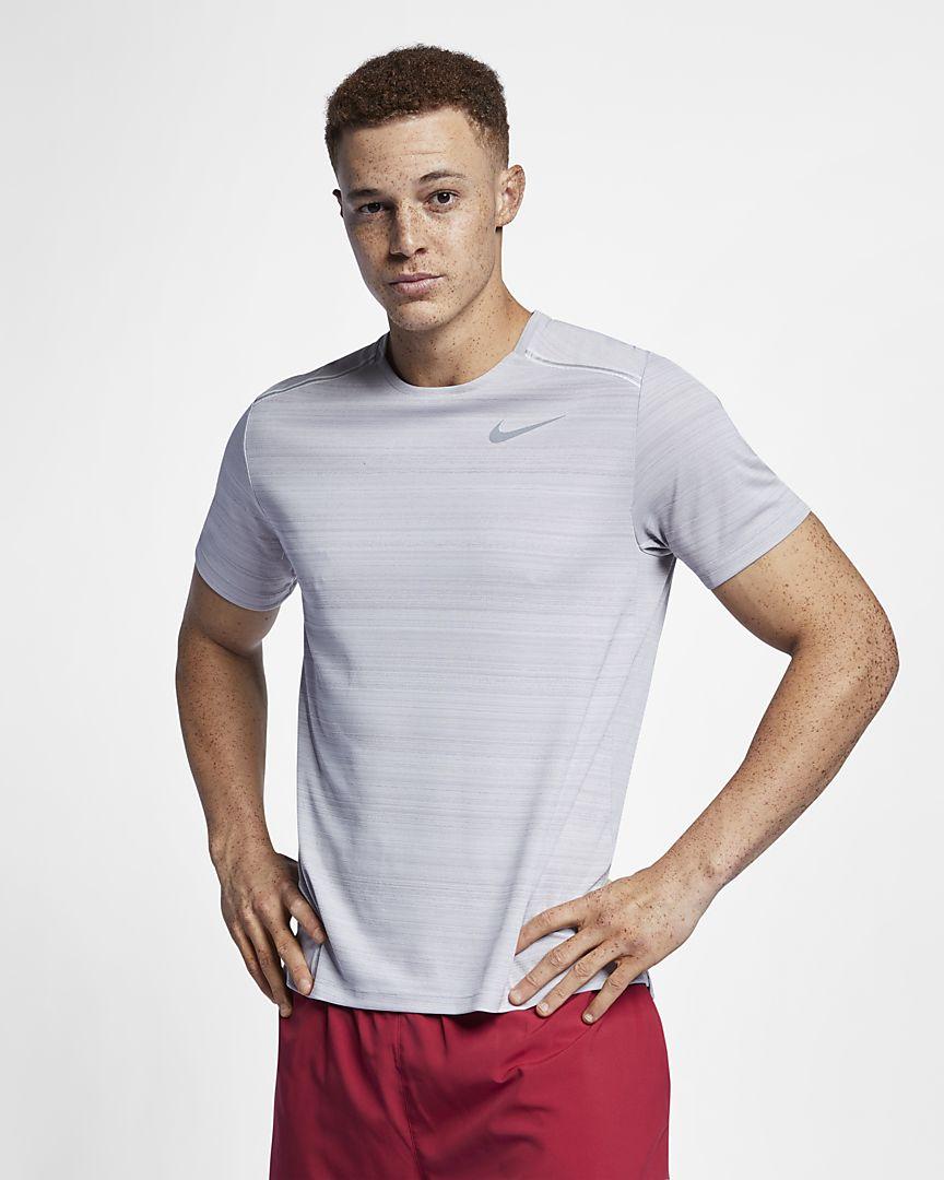Nike - dri-fit miler  short-sleeve running top - 1
