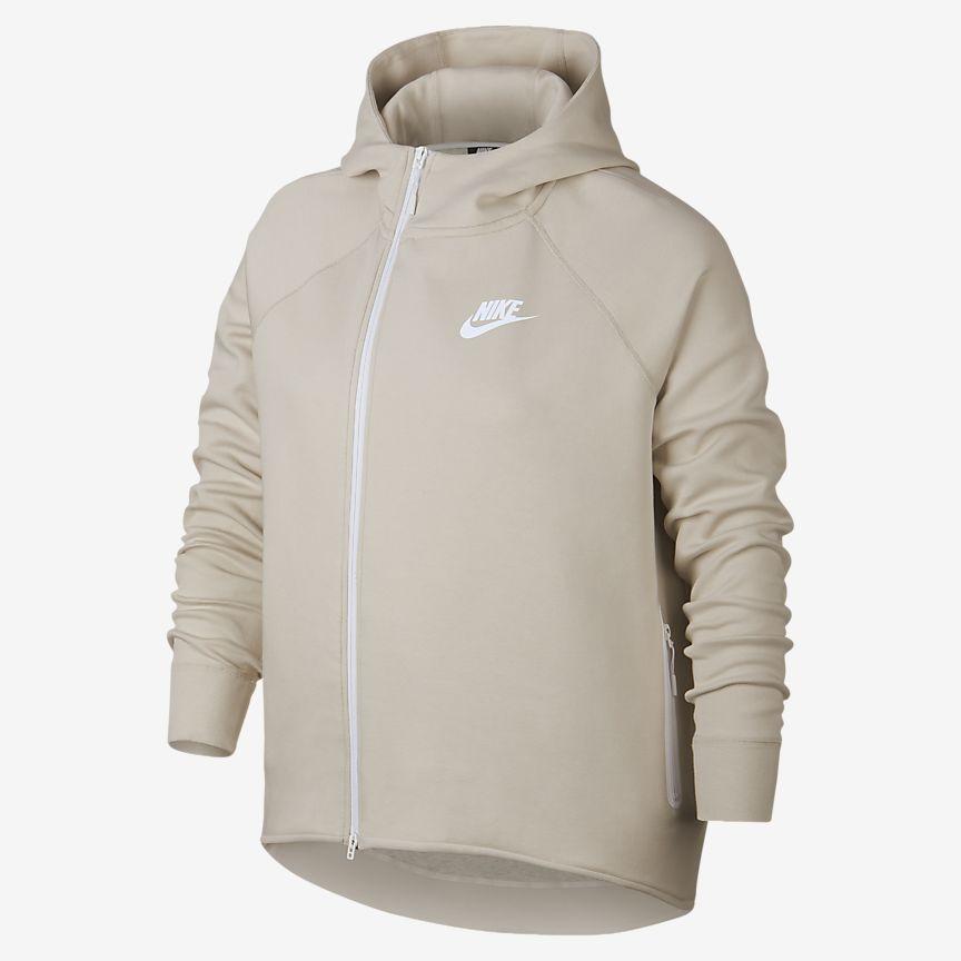 Nike - Nike Sportswear Tech Fleece Damen-Poncho mit durchgehendem Reißverschluss (große Größe) - 1