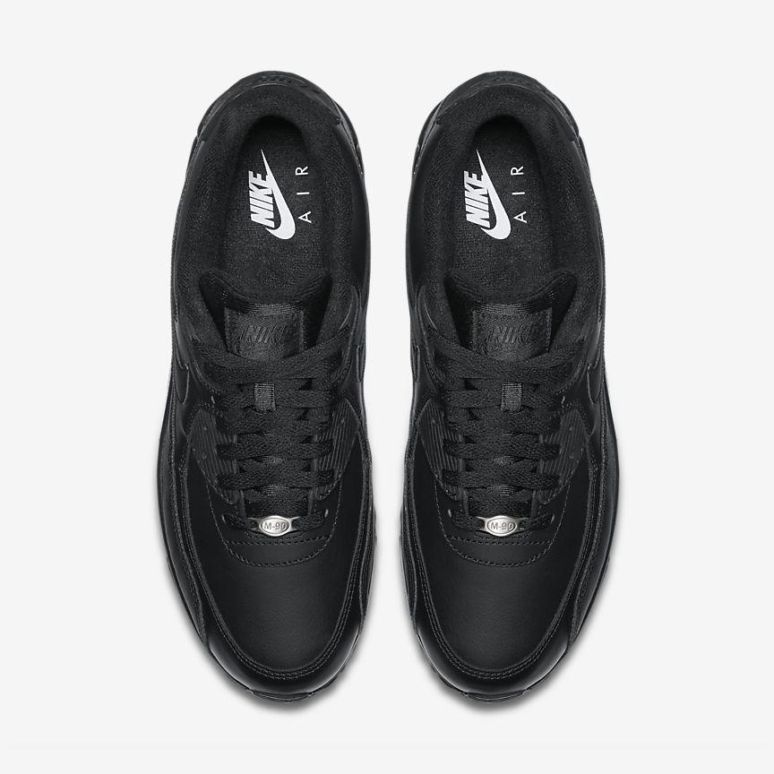 Nike Air Max 90 Leather Schwarz u09e6Gl3