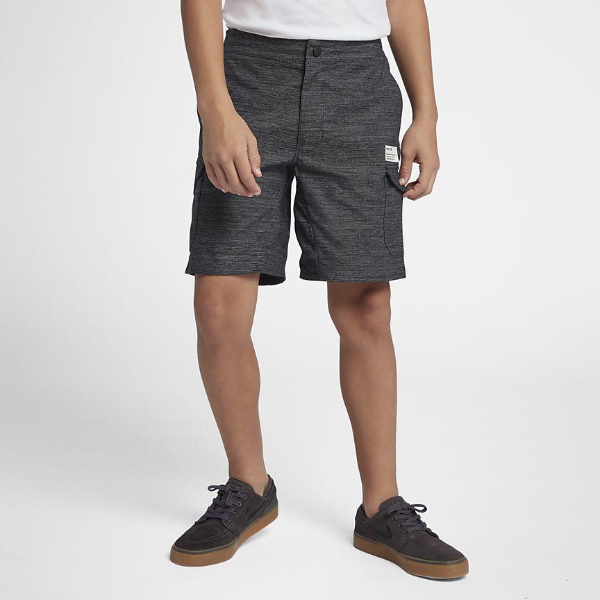 Nike - Hurley Dri-FIT Breathe Pantalón corto con bolsillos de 41 cm - Niño - 1