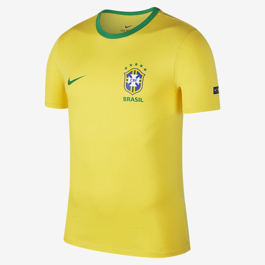 Nike - Brasil CBF Crest Camiseta - Hombre - 1