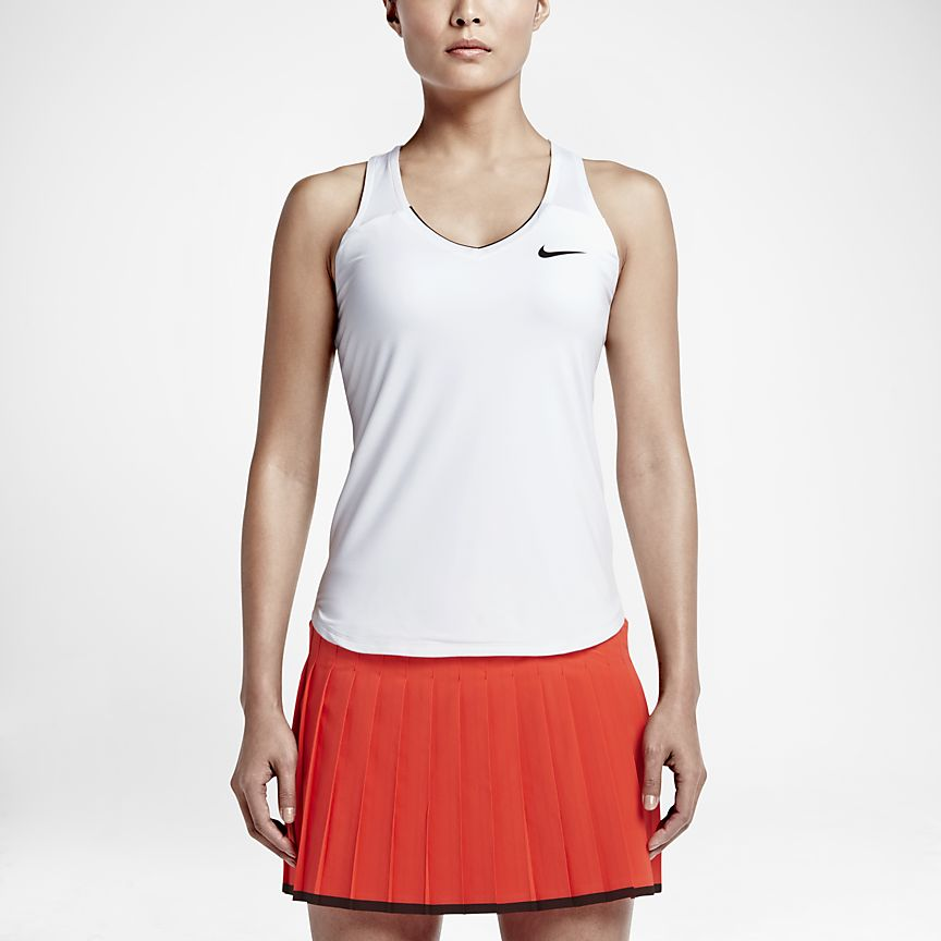Nike - NikeCourt Team Pure Camiseta de tirantes de tenis - Mujer - 1