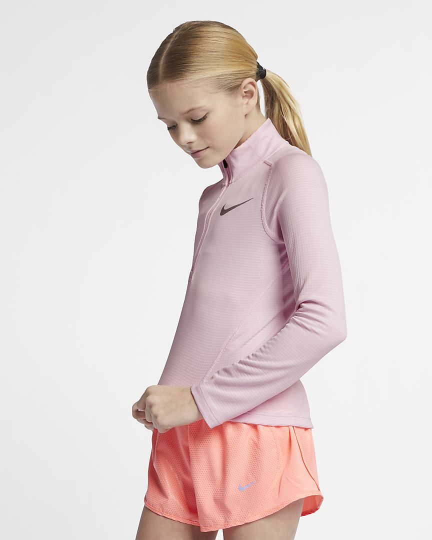 Nike - older  (girls') long-sleeve 1/2-zip running top - 1