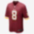 Low Resolution NFL Washington Redskins (Kirk Cousins) hjemmedrakt til amerikansk fotball for herre