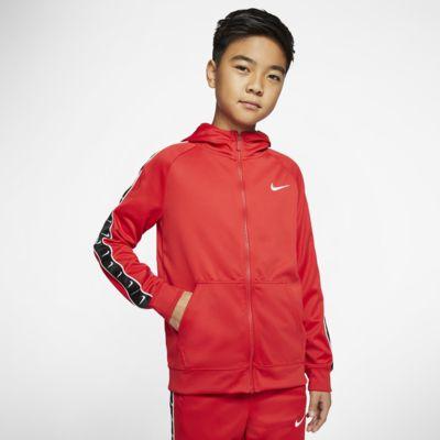 Nike Sportswear Swoosh hettejakke til store barn (gutt)