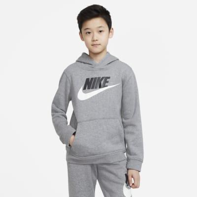 Μπλούζα με κουκούλα Nike Sportswear Club Fleece για μεγάλα παιδιά
