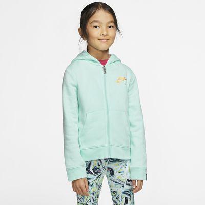 Dzianinowa bluza z kapturem i zamkiem na całej długości dla małych dzieci Nike Sportswear