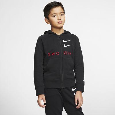Huvtröja med hel dragkedja Nike Sportswear Swoosh för ungdom (killar)