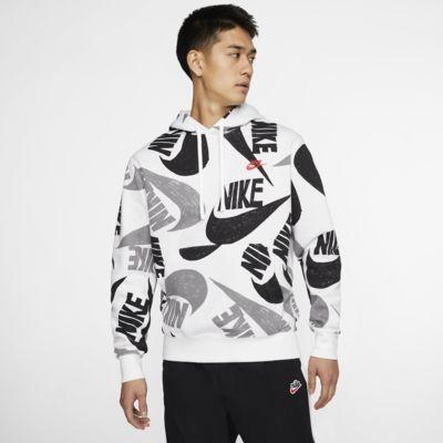 Nike Sportswear Club kapucnis, belebújós férfipulóver