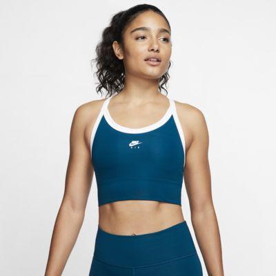 Спортивное бра с цельным вкладышем и средней поддержкой Nike Air Swoosh