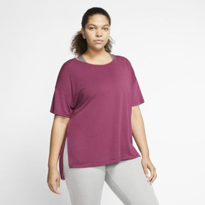 Nike Yoga Women's Short-Sleeve Top (Plus Size)