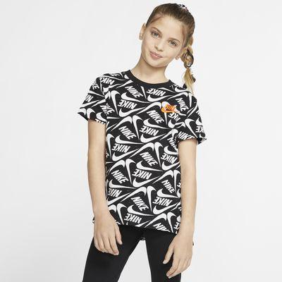 Nike Sportswear Printed T-skjorte for store barn (jente)