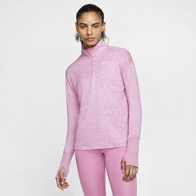 Nike Camiseta de running con media cremallera - Mujer