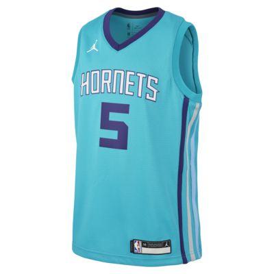 Nicolas Batum Hornets Icon Edition Older Kids' Jordan NBA Authentic Jersey