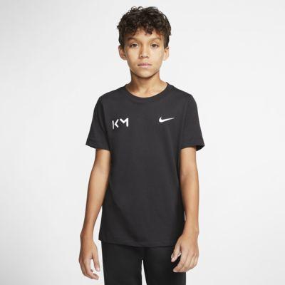 Kylian Mbappé fotball-T-skjorte til store barn