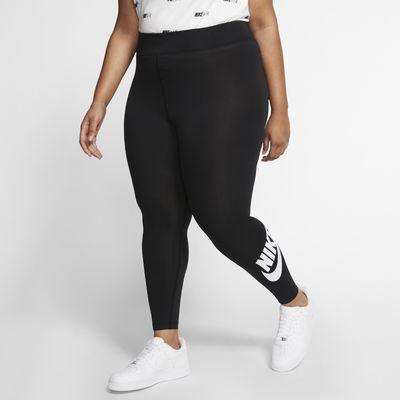 Nike Sportswear Leg-A-See metallisk leggings med høyt liv til dame (store størrelser)