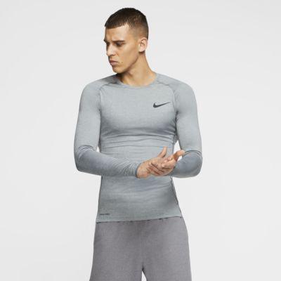 Haut à manches longues et coupe ajustée Nike Pro pour Homme
