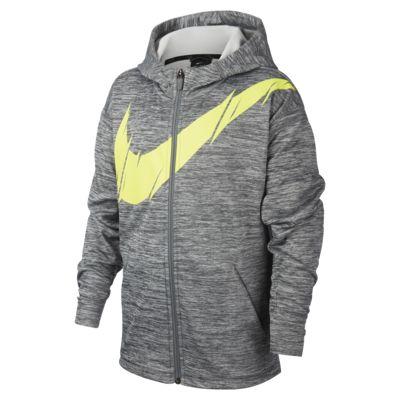 Sudadera con capucha de entrenamiento de cierre completo para niño talla grande Nike Therma
