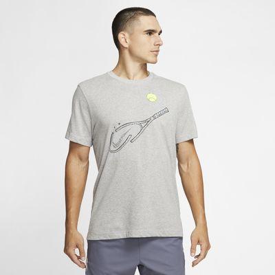 Pánské tenisové tričko NikeCourt Dri-FIT s grafickým motivem