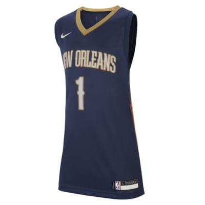 Dres Nike NBA Swingman Pelicans Icon Edition pro větší děti
