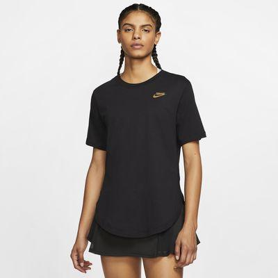 Dámské tenisové tričko NikeCourt s grafickým motivem