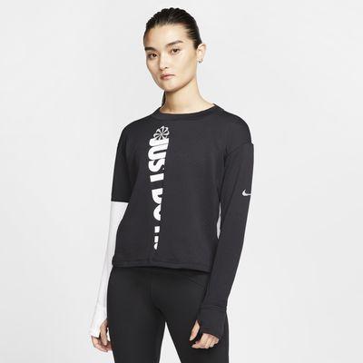 Γυναικεία μακρυμάνικη μπλούζα για τρέξιμο Nike Therma Sphere Icon Clash