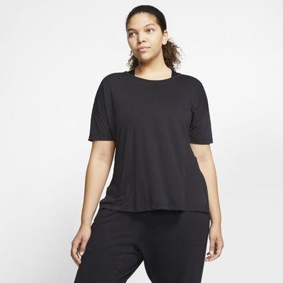 Nike Yoga Women's Short-Sleeve Top (Plus Size)