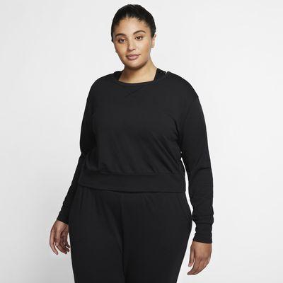 Damska koszulka z długim rękawem (duże rozmiary) Nike Yoga