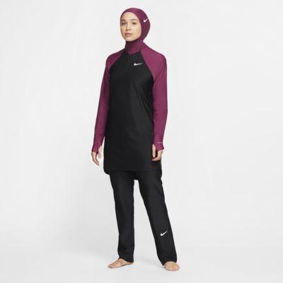 เลกกิ้งว่ายน้ำผู้หญิงทรงขาตรงปกปิดเต็มขั้น Nike Victory