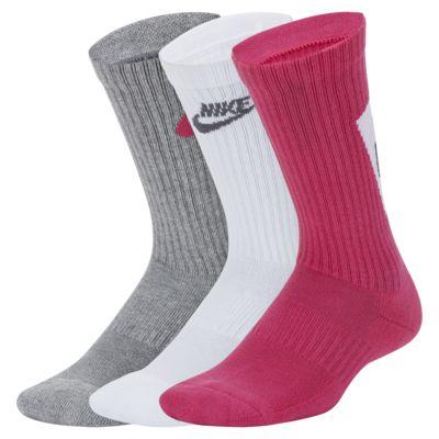 ถุงเท้าข้อยาวเด็กโตลดแรงกระแทก Nike Everyday (3 คู่)