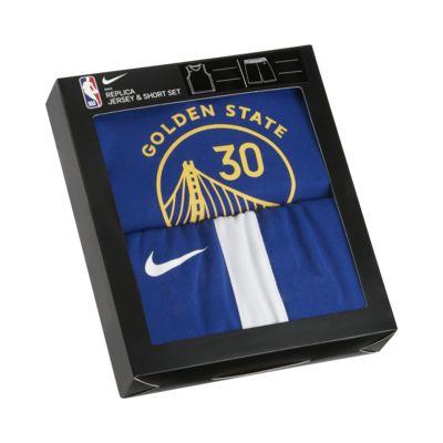 Warriors Replica Set met Nike NBA-jersey en -shorts voor peuters